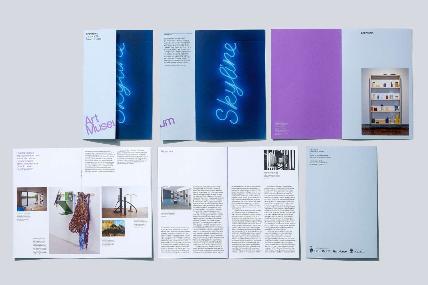 Brand identity and print for Art Museum by Underline Studio