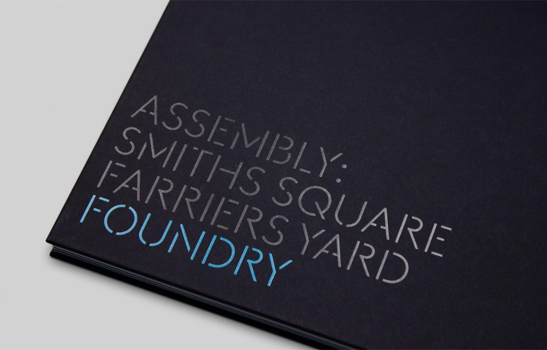 Branding for Hammersmith property development Assembly by Blast, United Kingdom