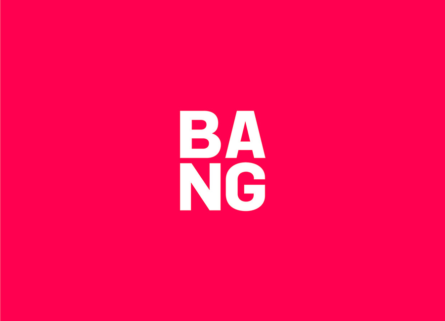 Logotype designed by RE: for Sydney based public relations business Bang