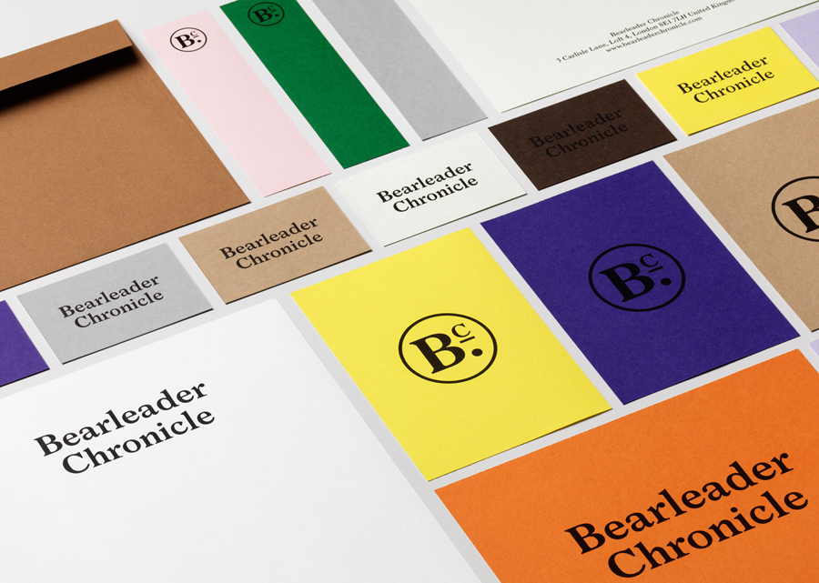Branding for publisher Bearleader Chronicle by The Studio, Sweden