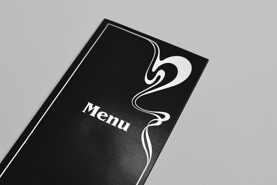 Menu for London based French Patisserie Belle Epoque by Mind Design