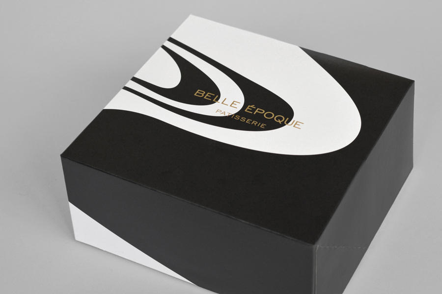 Packaging for London based French Patisserie Belle Epoque by Mind Design