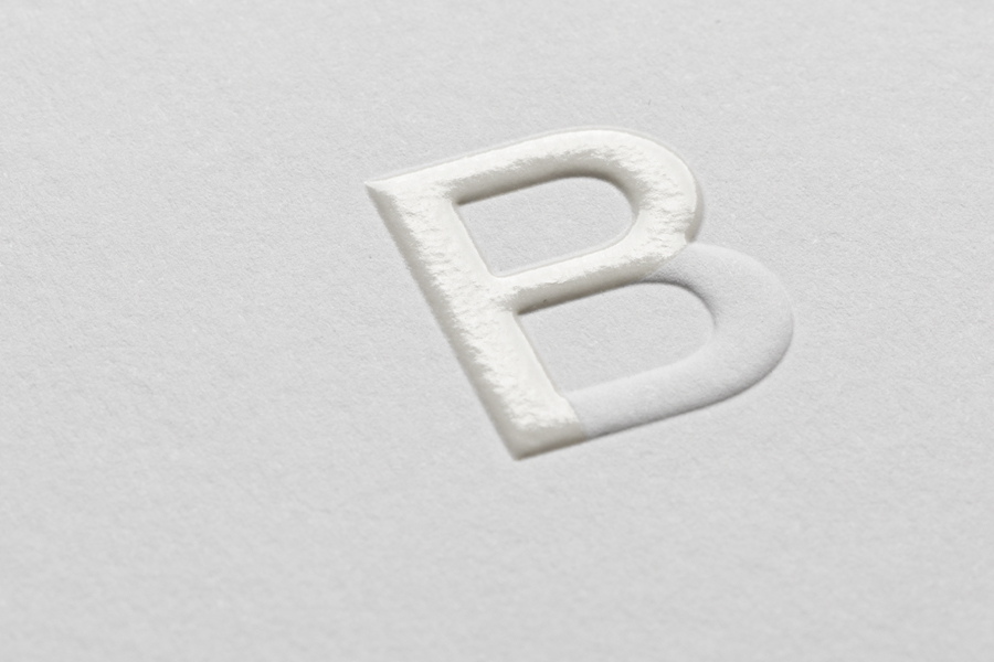 Blind emboss and UV varnished monogram by Strategy for strategic leadership and support business Bryan Pearson