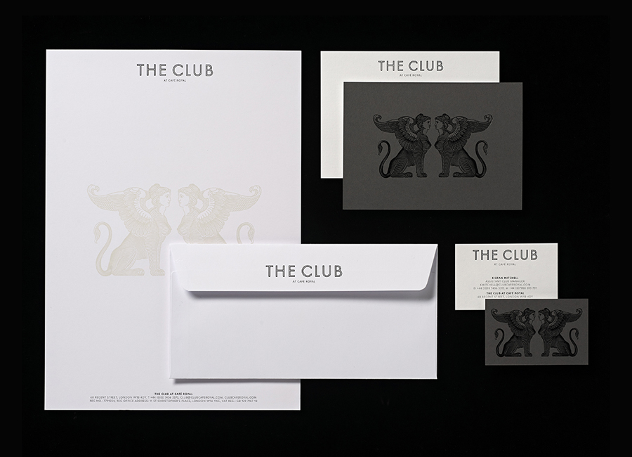 Print for The Club designed by Pentagram