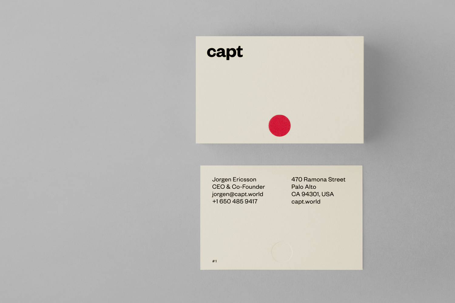 Brand Identity and business cards designed by Bunch for video making app and web-based market platform Capt