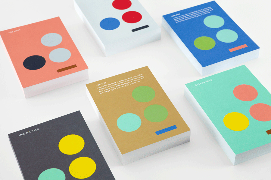 Logo and print by Blok for LA based education organisation the Coalition for Engaged Education (CEE).