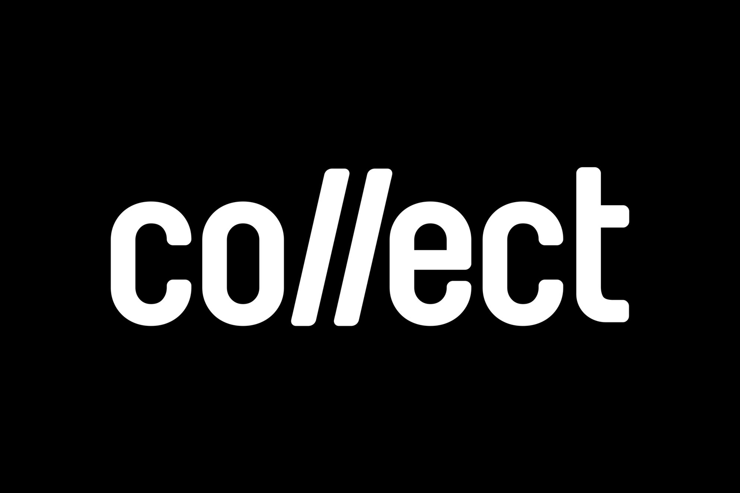 Wordmark for contemporary international art fair Collect, designed by Spin, London, UK