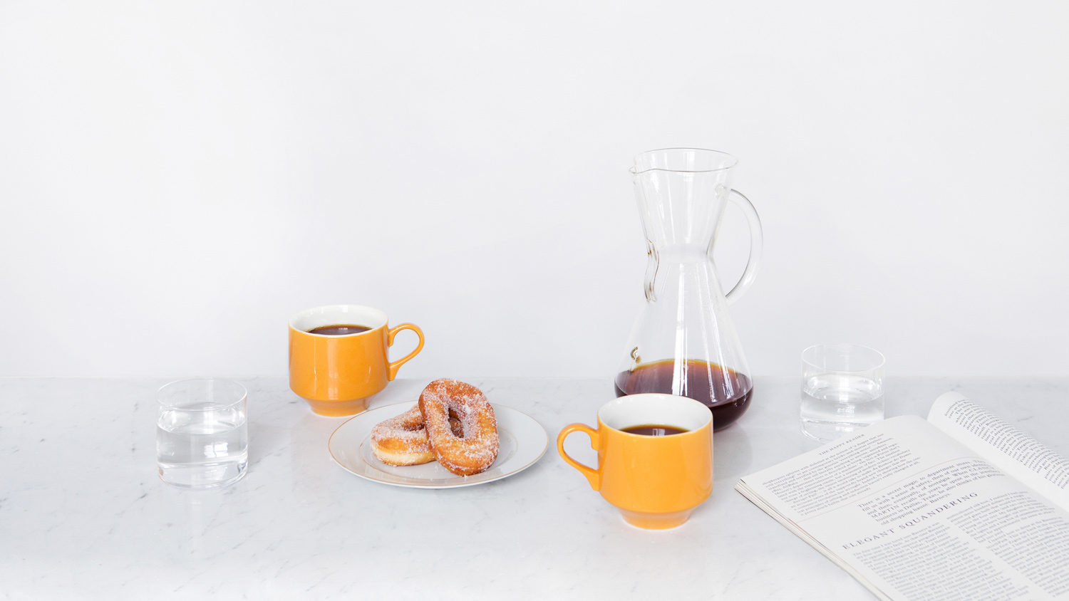 Art direction and set design by Cindy Boyce for New York coffee subscription service Collected Coffee