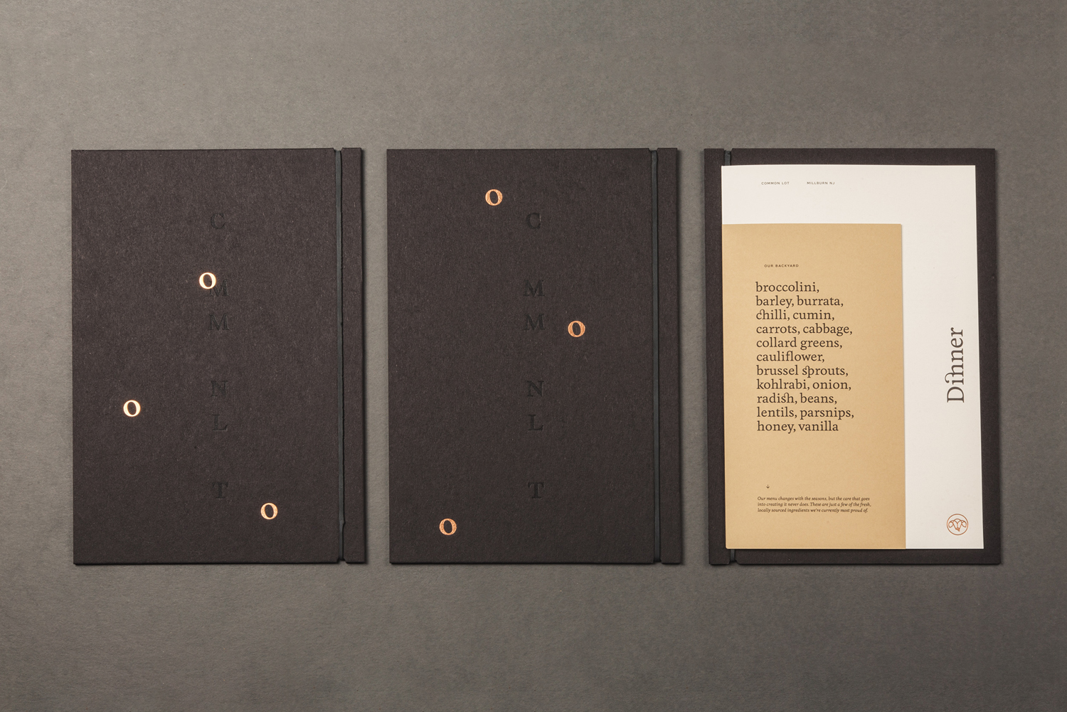 Menu Design – Common Lot by Perky Bros, United States