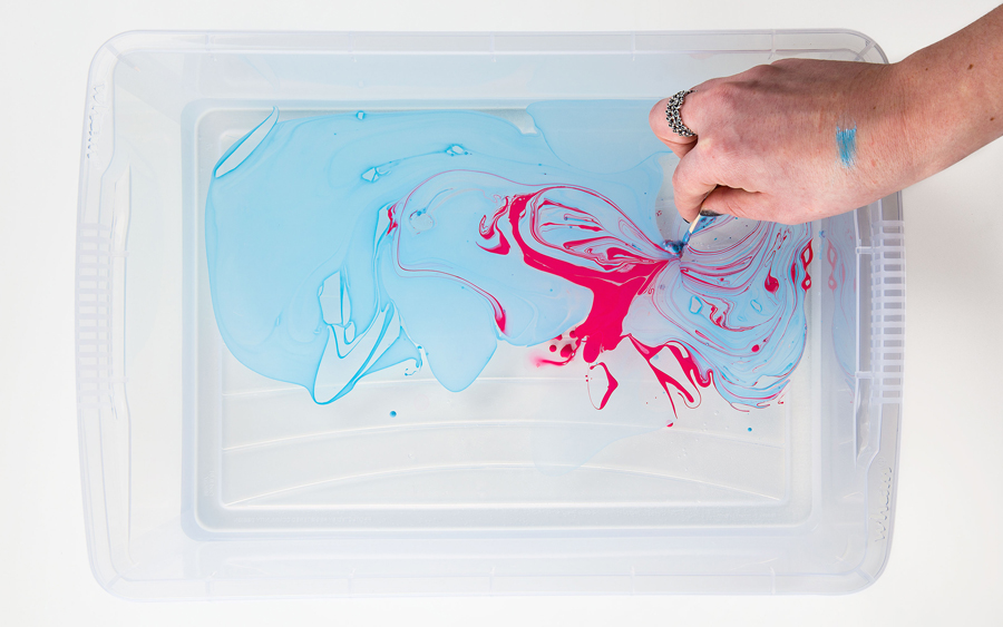 Marbling process by Robot Food for Costello & Hellerstein