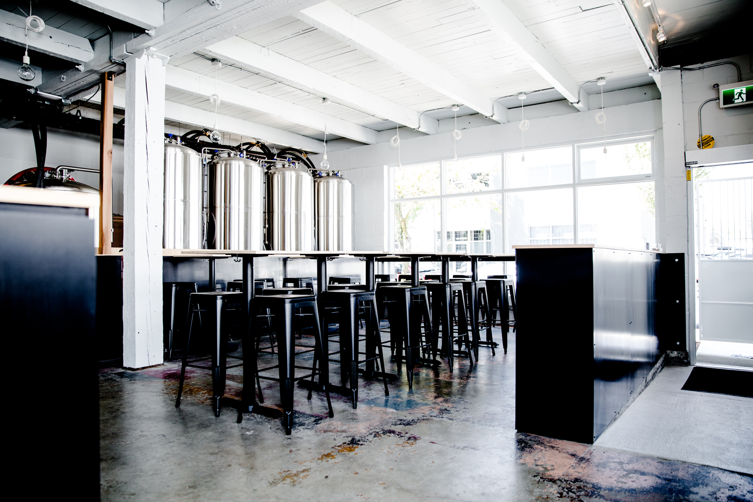 Interior of Faculty Brewing Co.