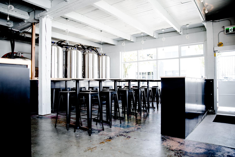 Interior of Faculty Brewing Co.