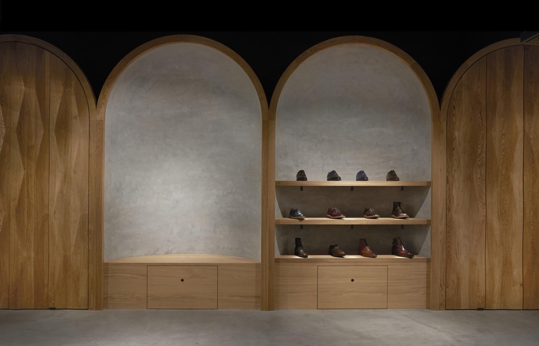 Interior design by Snøhetta for Oslo-based high-end shoemaker Faust