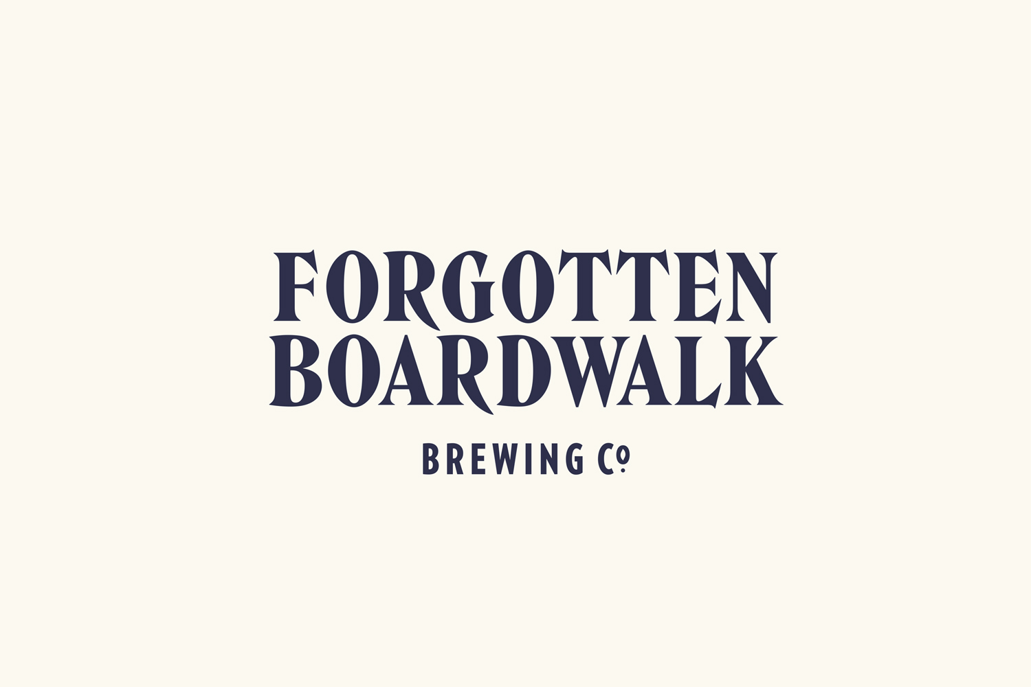 Brand identity and packaging for Forgotten Boardwalk Brewing by Perky Bros