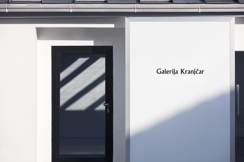 Wordmark and signage designed by Bunch for Zagreb-based modern art gallery Galerija Kranjčar.