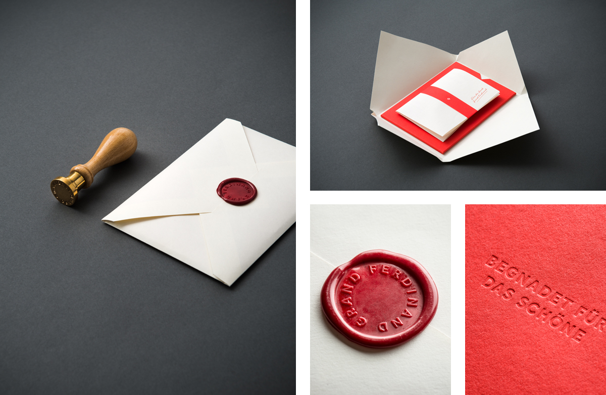 Brand and stationery for Vienna's Grand Ferdinand hotel by Austrian graphic design studio Moodley