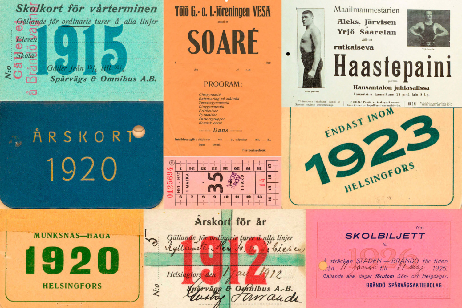 References gathered by Werklig for their brand identity work for Helsinki City Museum