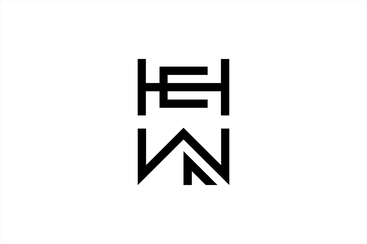 Monogram for woodworking shop Hewn designed by Föda, United States