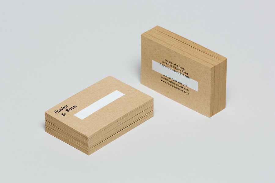 Visual identity and business cards for Husler & Rose designed by Post