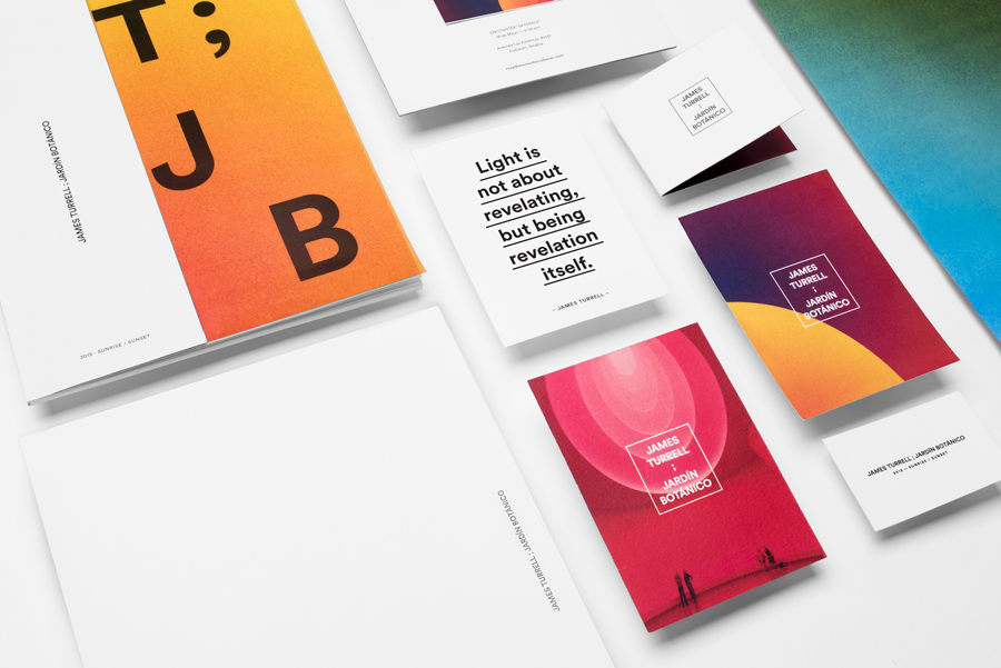 Branding for James Turrell Jardín Botánico by graphic design studio Savvy