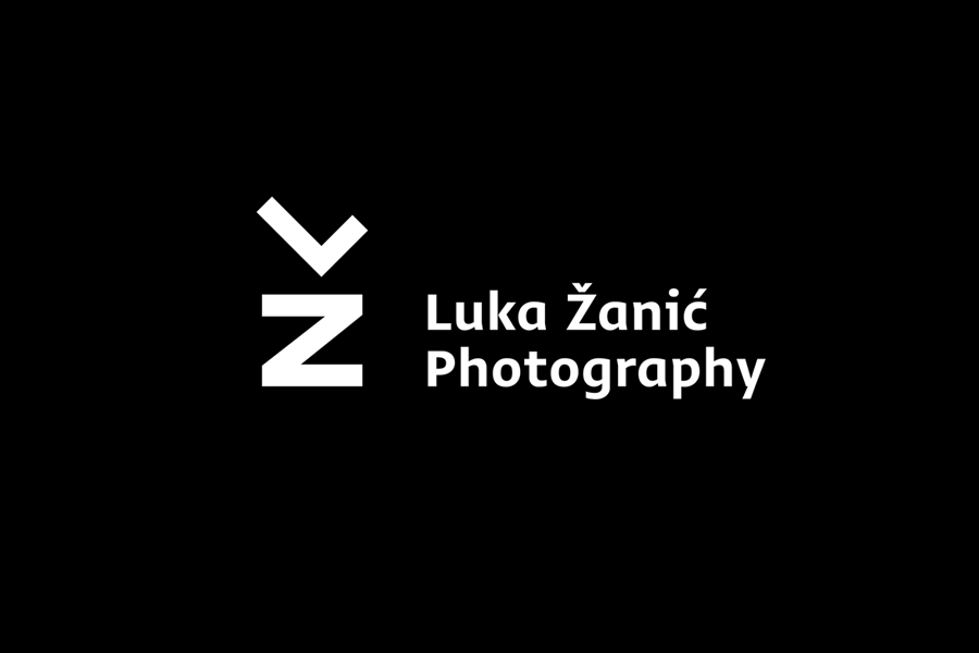 Logo, die cut stationery and portfolio folder by Studio8585 for architectural photographer Luka Žanić