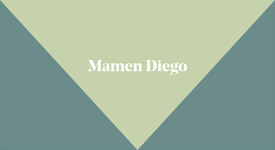 Logotype by graphic design studio Atipo for Spanish architecture and interior design firm Mamen Diego.