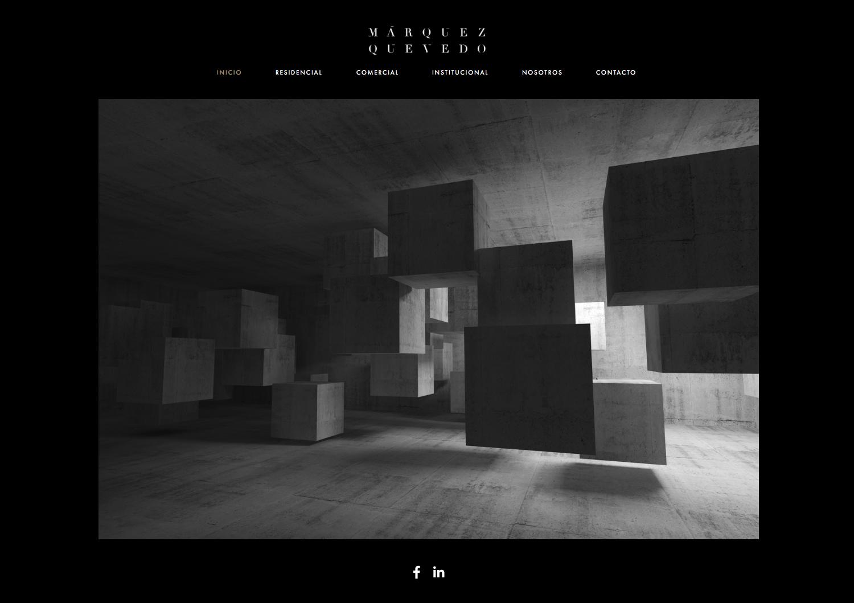 Brand identity and website for Mexican architectural studio Marquez Quevedo by La Tortillería