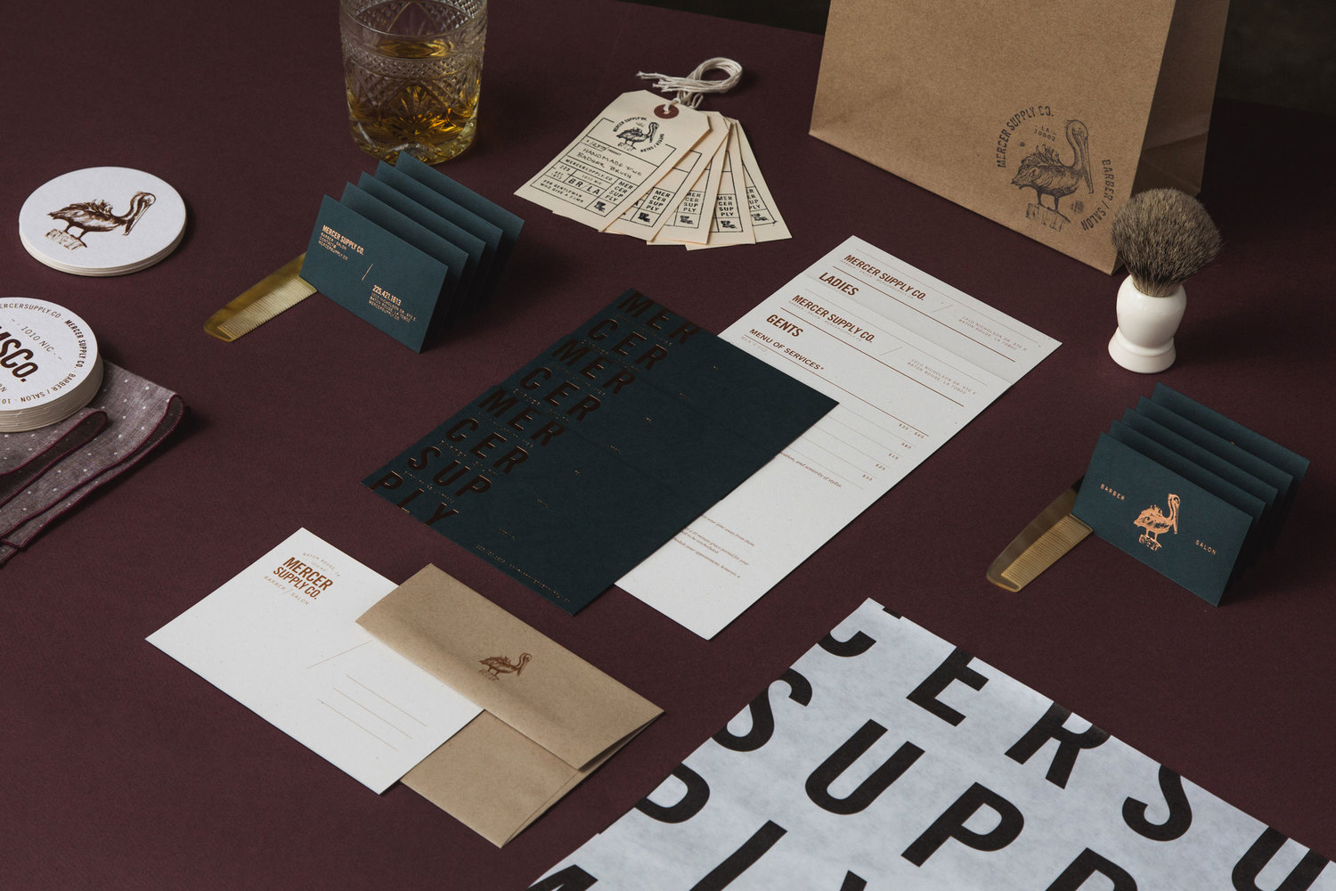 Brand Identity For Mercer Supply Co By Peck Amp Co Bp Amp O