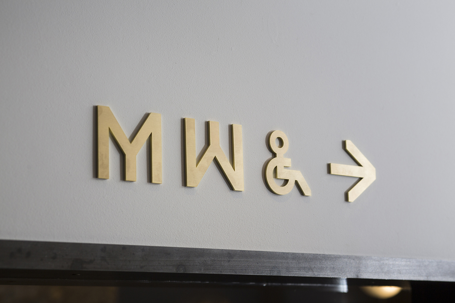 Branding and signage designed by Bibliothèque for Monica Galetti's new London restaurant Mere