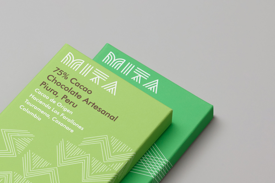 Branding and packaging for Mita Chocolate Co. by Moniker, United States via BP&O A Packaging Design Blog.