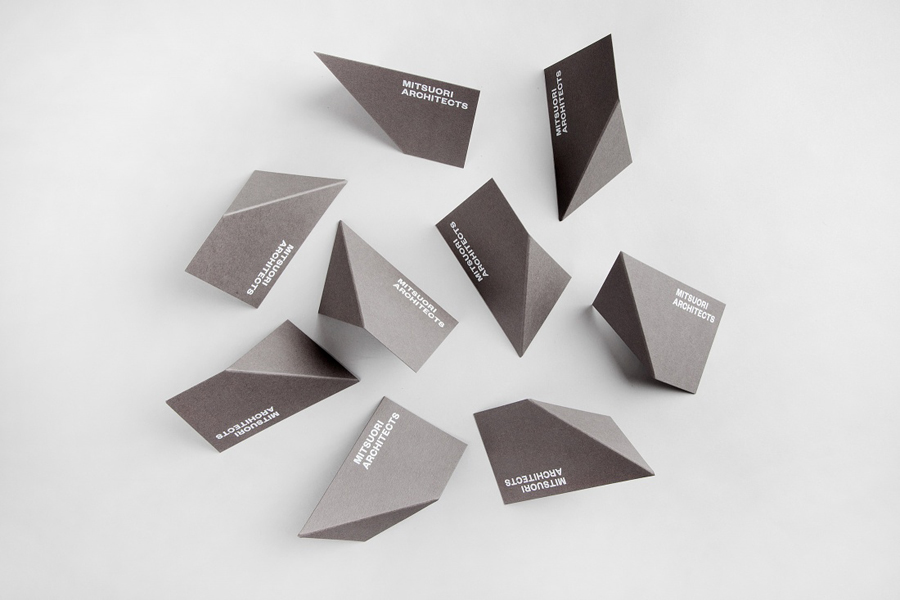 Logo and business card design by Hunt & Co. for Melbourne based architectural design studio Mitsuori Architects. Featured on bpando.org