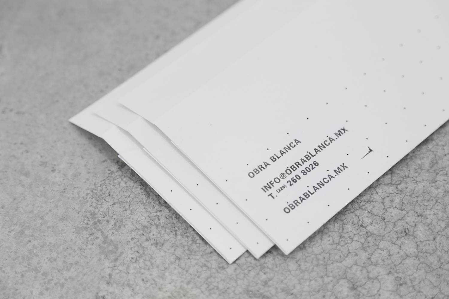 Brand identity and stationery for Mexican architecture studio Obra Blanca designed by Savvy