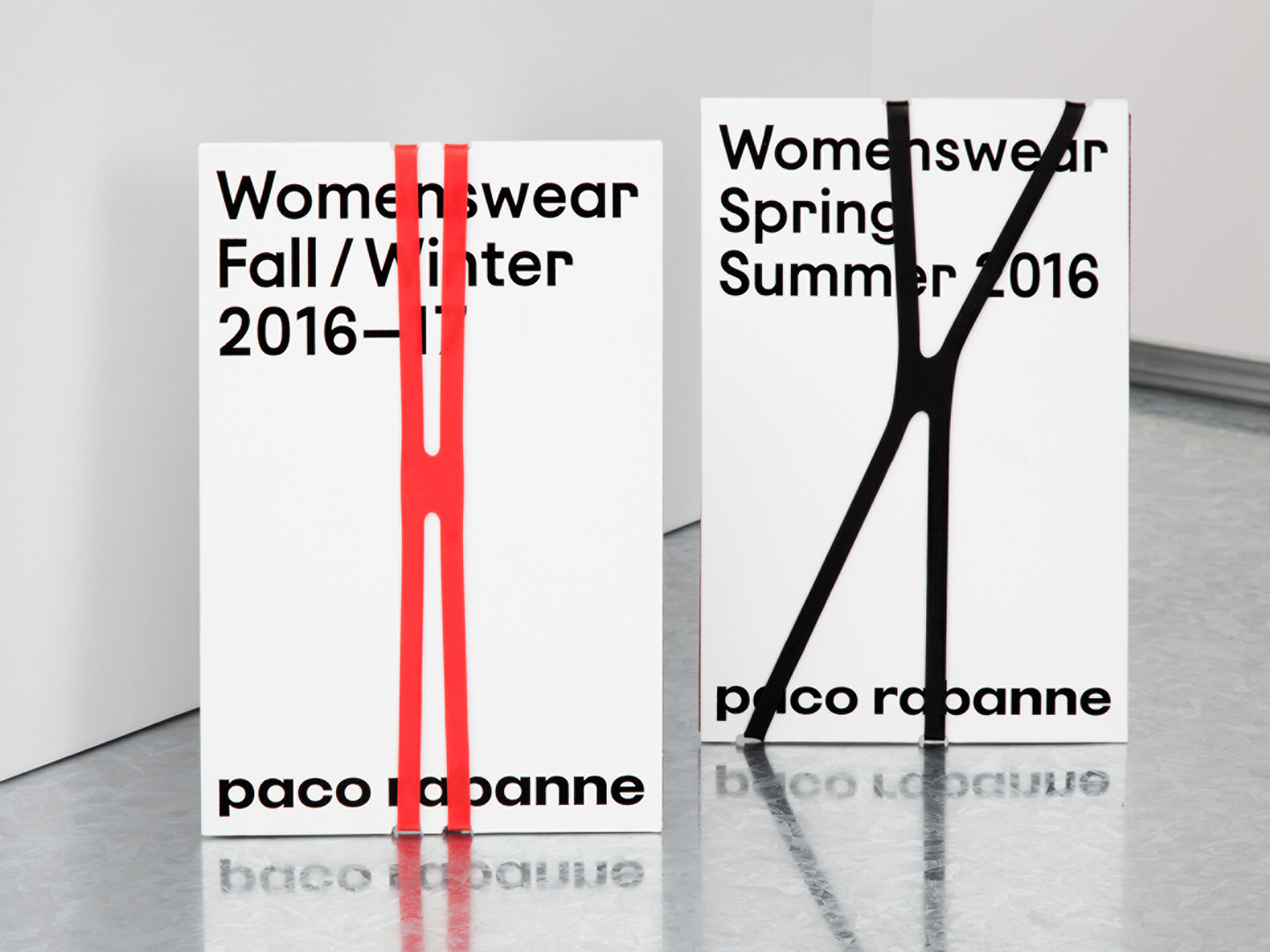 Brand identity and print for French fashion label Paco Rabanne by Zak Group, United Kingdom