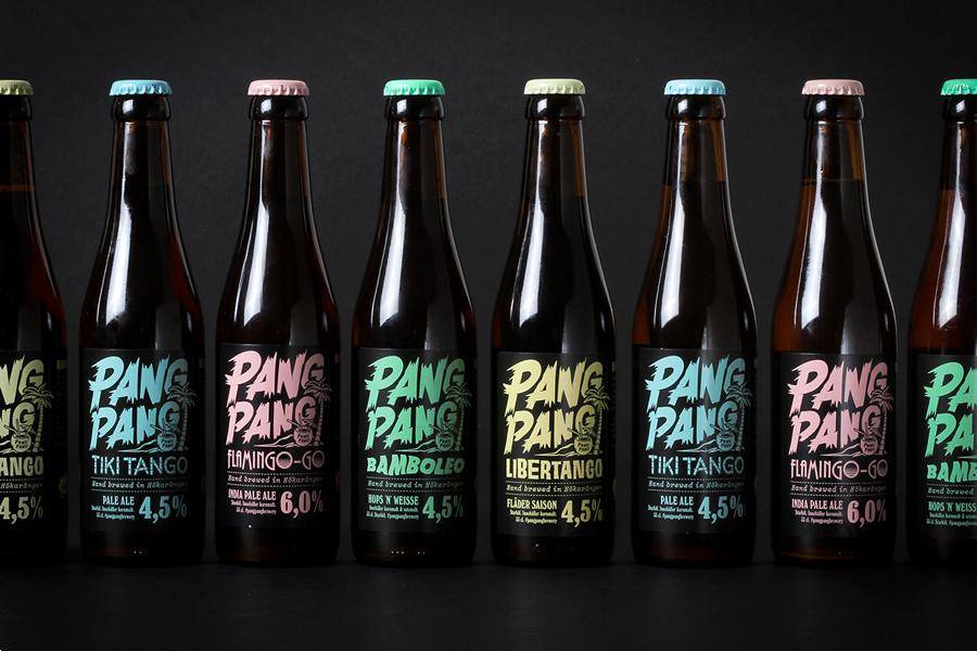 Packaging for PangPang Summer Beer by Snask designed in Stockholm, Sweden