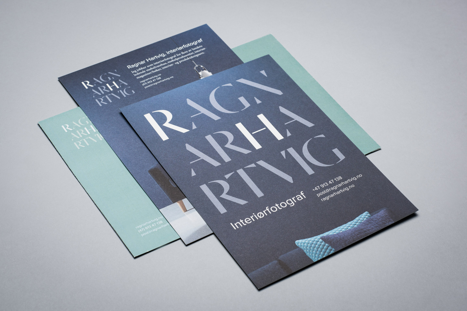 Brand identity and print for Norwegian photographer Ragnar Hartvig by Commando Group, Oslo