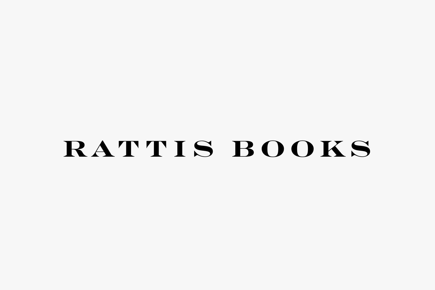 Logotype by London-based design studio, private press and typography workshop The Counter Press for UK independent publisher Rattis Books.