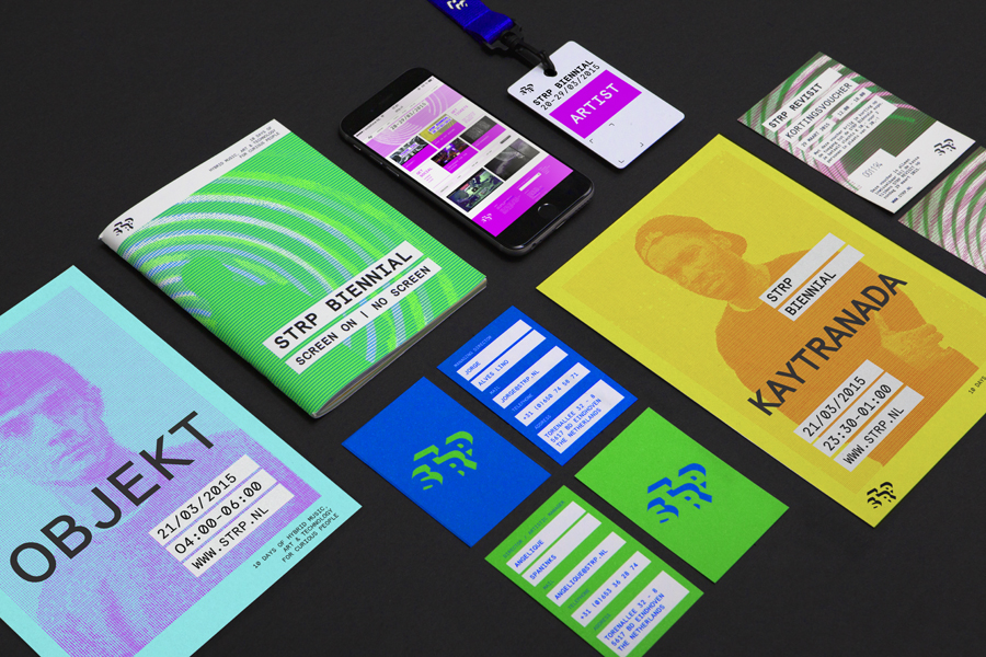 Branding by Raw Color for Dutch art, technology and experimental pop culture festival STRP 2015.