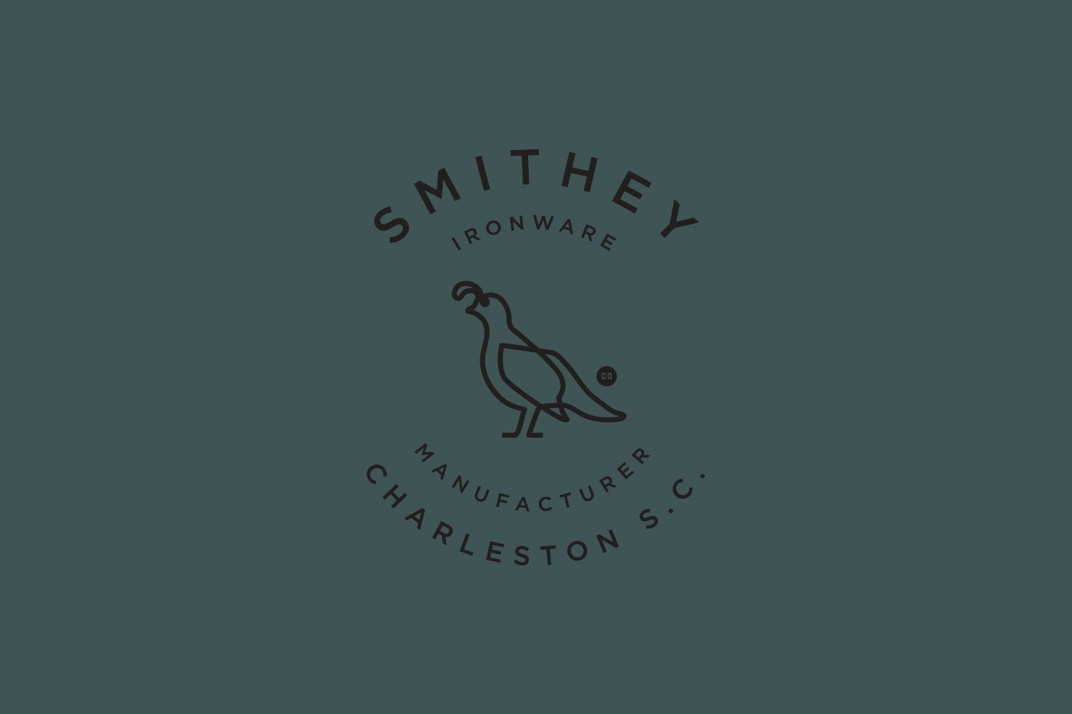 Brand identity and labels with white ink and blind emboss for Smithey Ironware Company by Charleston based Stitch, United States