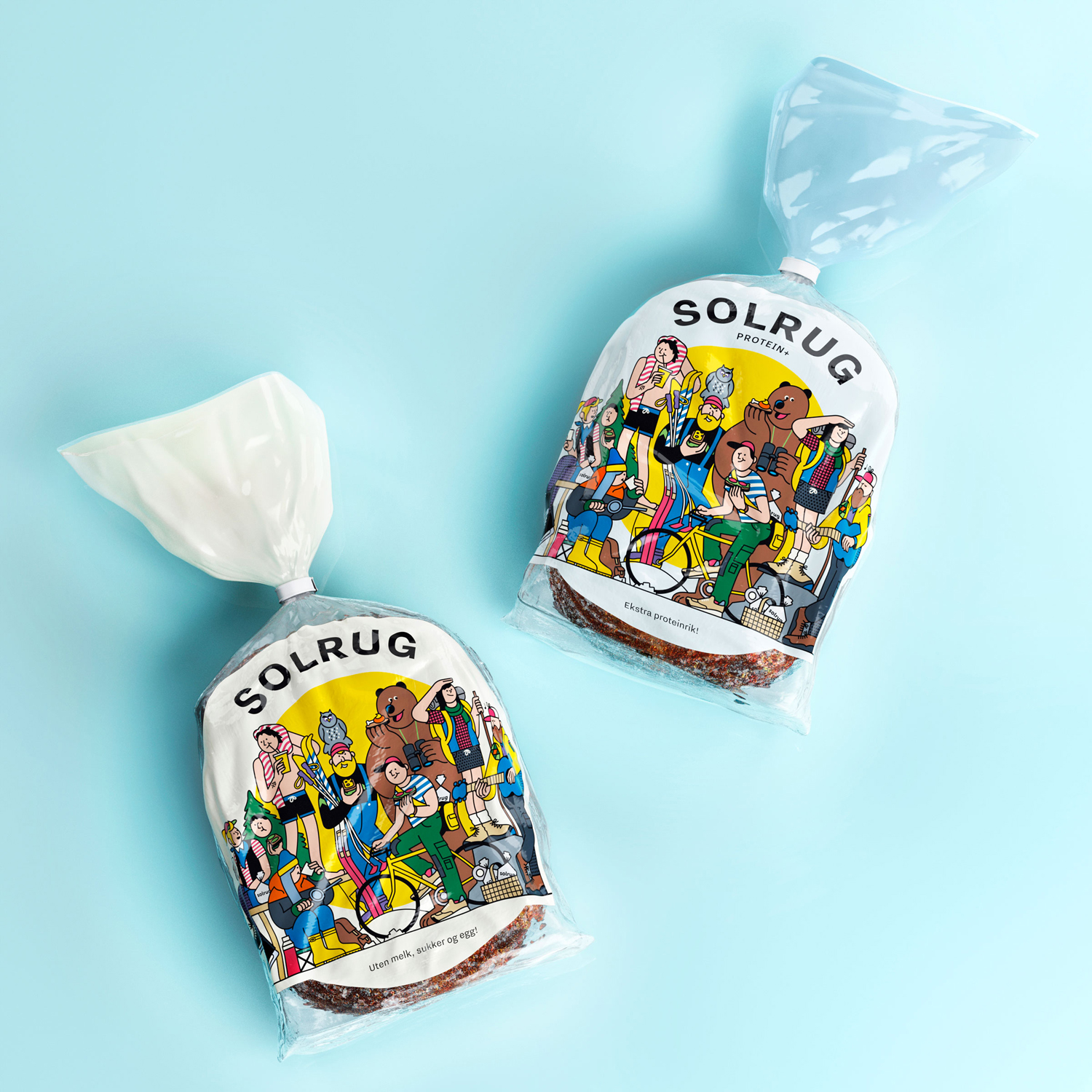 Package design for Solrug by Bielke & Yang, Norway, featuring illustration by Rami Niemi, Finland