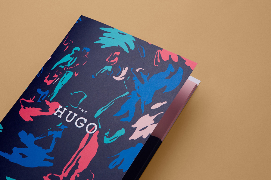 Branding and brochure for Footscray property development The Hugo designed by Studio Brave featuring illustration by Andy Murray