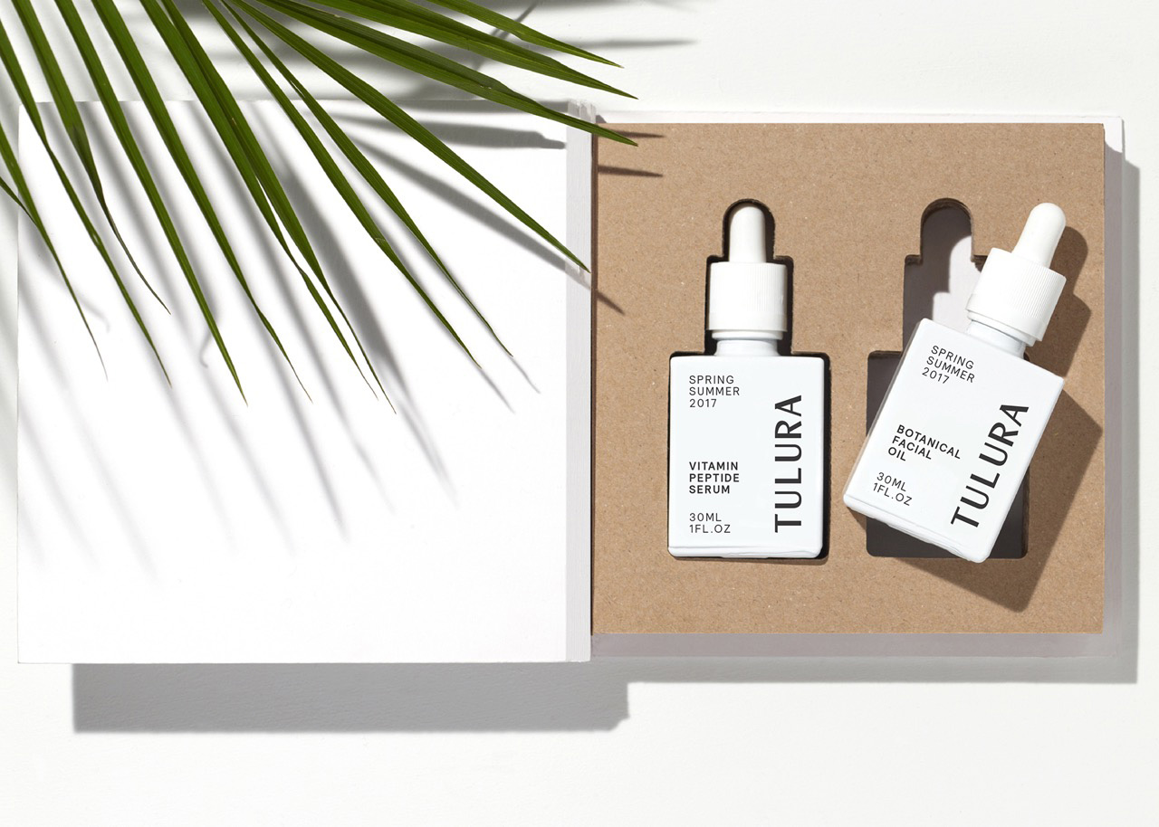 Logotype, branding and packaging by Leeds-based design studio Build for New York skincare brand Tulura