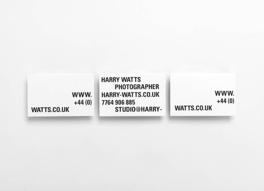 Business cards for Harry Watts designed by Birch