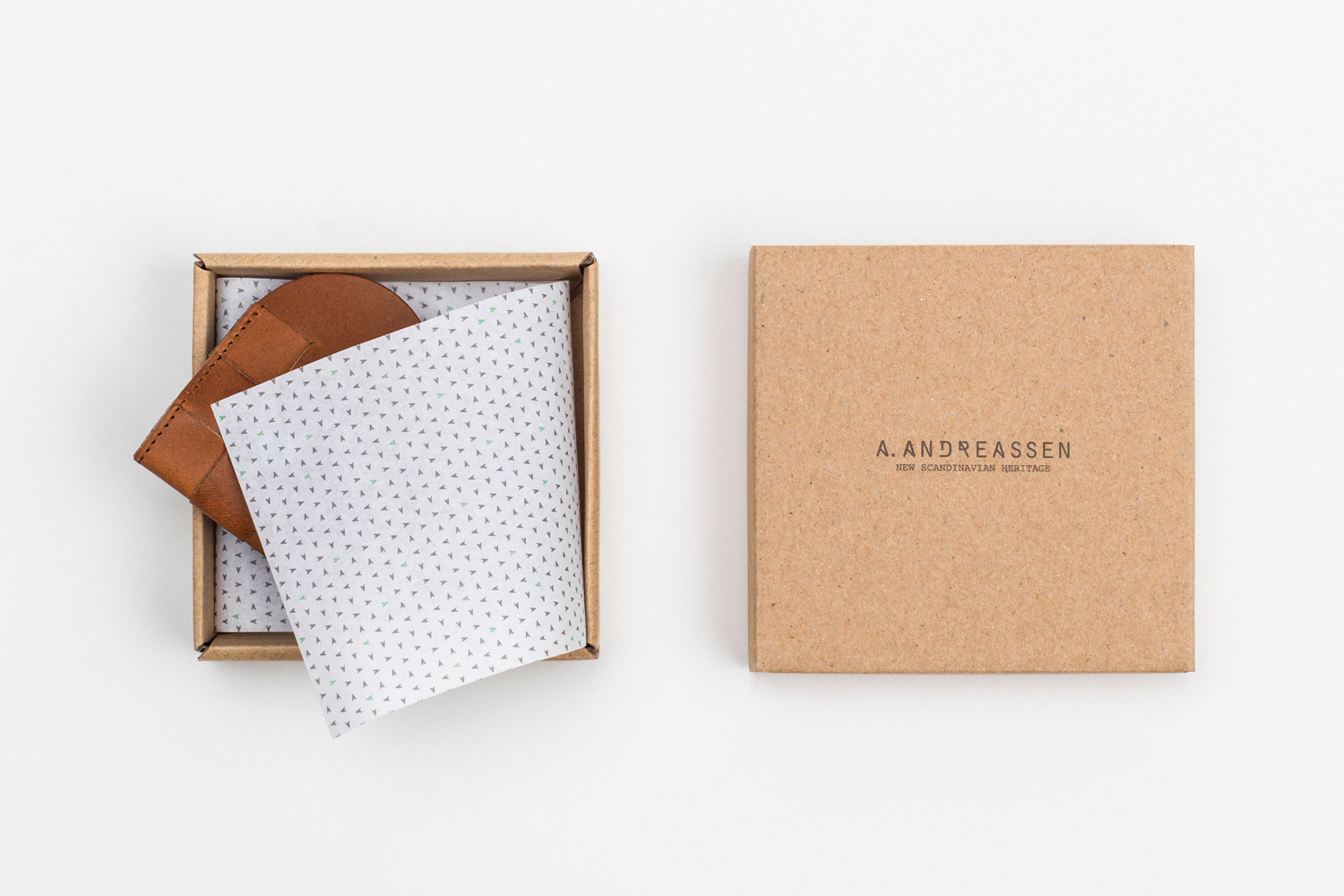 Brand identity and package design by the London office of Bond for new Scandinavian lifestyle brand A. Andreassen