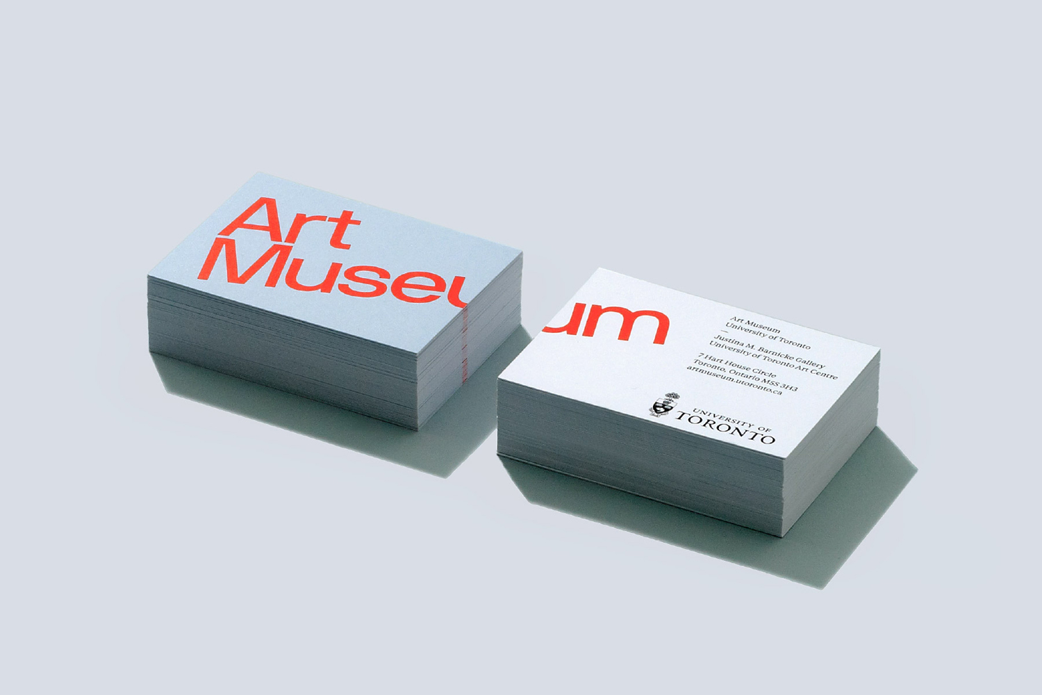Brand identity and business cards for Art Museum by Underline Studio