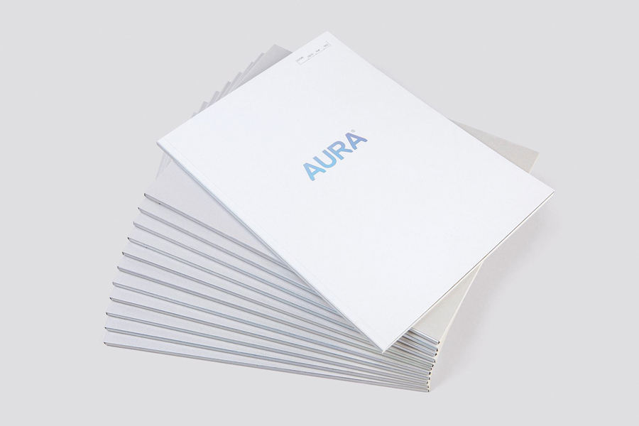 Foiled brochure for Lorient – Aura designed by Believe In