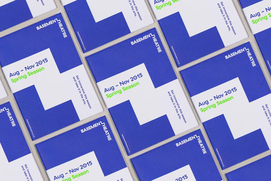 Programme for Basement Theatre by Studio Alexander, New Zealand