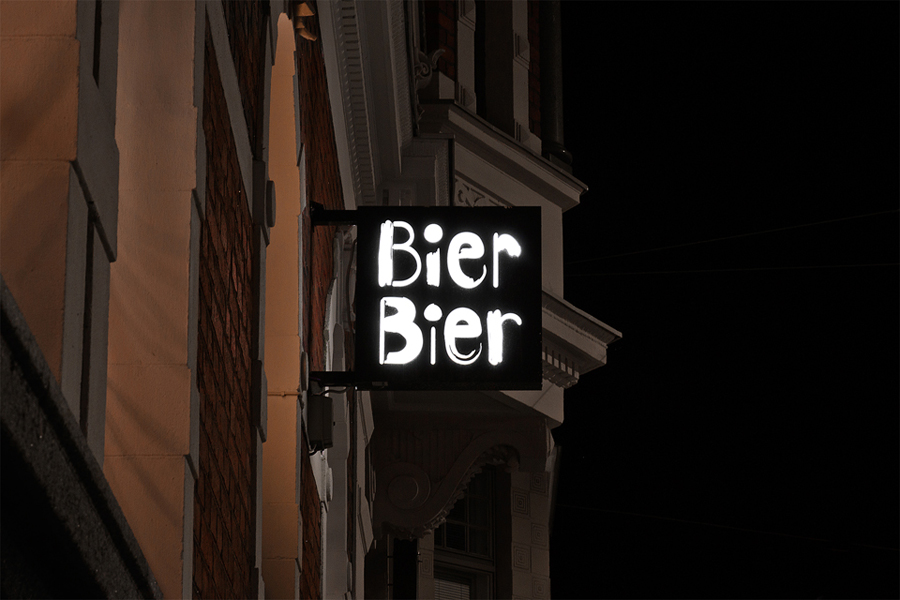 Branding for Helsinki based beer bar Bier Bier by Finnish graphic design studio Tsto
