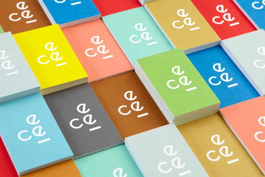 Logo and business card design by Blok for LA based education organisation the Coalition for Engaged Education (CEE)