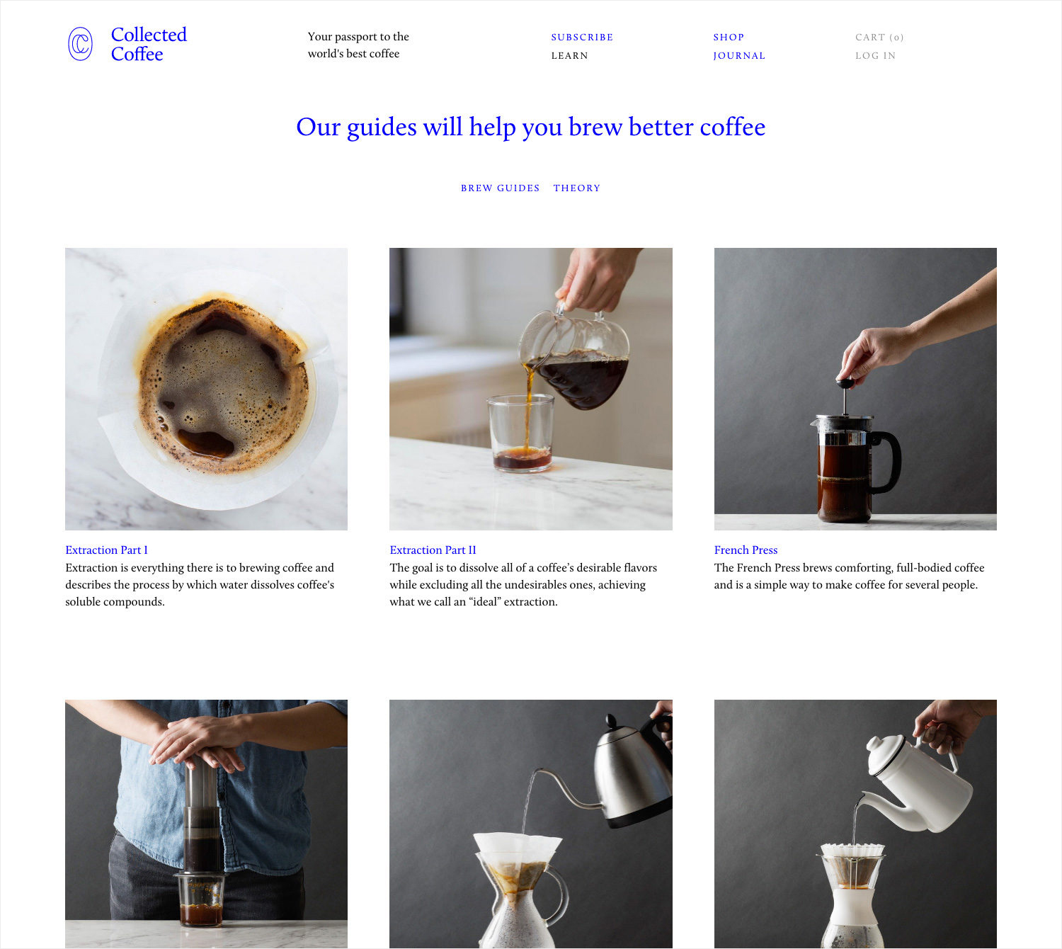 Brand identity and website for New York coffee subscription service Collected Coffee by Fivethousand Fingers