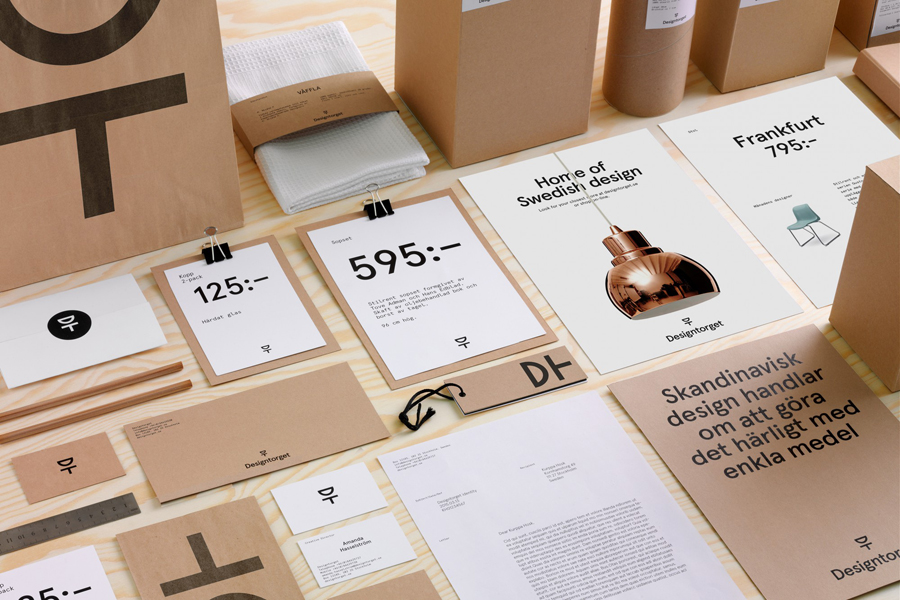 Logo, print and packaging by Kurppa Hosk for Swedish contemporary furniture, art and design curator and retailer Designtorget